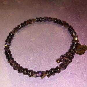 Alex and Ani Jewelry - Alex and Ani Purple Beaded Bangle